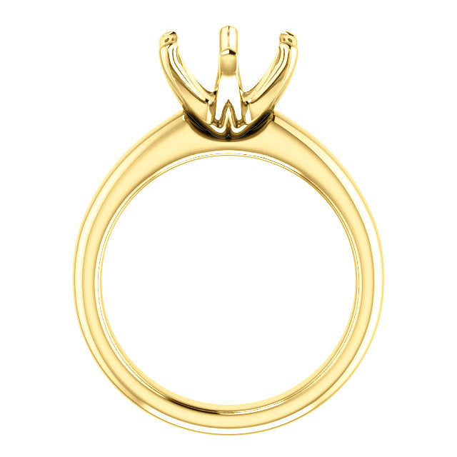 14K Yellow 11x9 mm Oval Engagement Ring Mounting* Quote does not include cost of center stone. *Prices are based on a standard melee diamond quality SI2-SI3, G-H. Exact pricing may be subject to change based on size, please contact an Ever&Ever retai