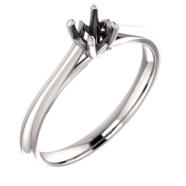 Platinum 4.1 mm Round Solitaire Engagement Ring Mounting* Quote does not include cost of center stone. *Prices are based on a standard melee diamond quality SI2-SI3, G-H. Exact pricing may be subject to change based on size, please contact an Ever&Ev