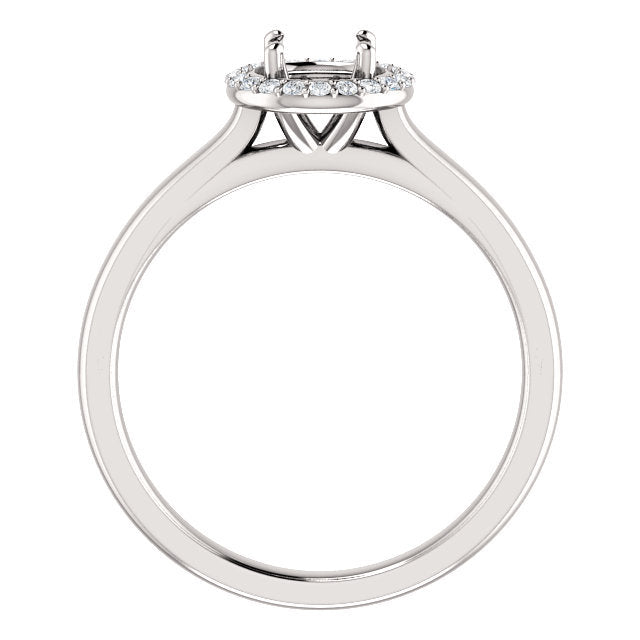 18K White 5.2 mm Round .08 CTW Diamond Semi-Set Engagement Ring* Quote does not include cost of center stone. *Prices are based on a standard melee diamond quality SI2-SI3, G-H. Exact pricing may be subject to change based on size, please contact an