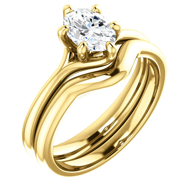 18K Yellow 7x5 mm Oval Engagement Ring Mounting* Quote does not include cost of center stone. *Prices are based on a standard melee diamond quality SI2-SI3, G-H. Exact pricing may be subject to change based on size, please contact an Ever&Ever retail