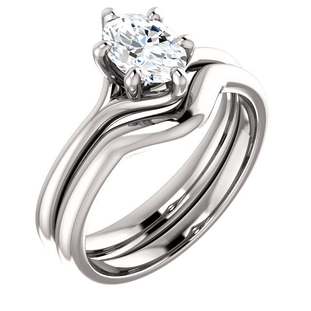 Platinum 7x5 mm Oval Engagement Ring Mounting* Quote does not include cost of center stone. *Prices are based on a standard melee diamond quality SI2-SI3, G-H. Exact pricing may be subject to change based on size, please contact an Ever&Ever retailer