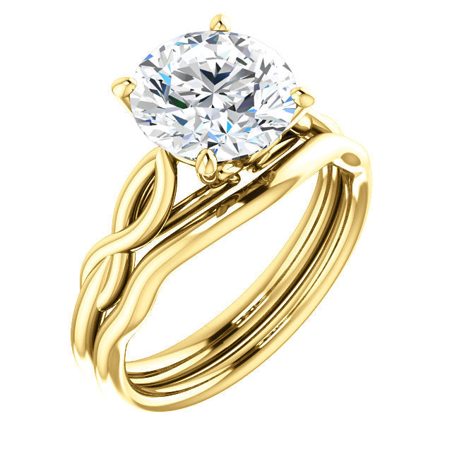 14K Yellow  8.8 mm Round Solitaire Engagement Ring Mounting* Quote does not include cost of center stone. *Prices are based on a standard melee diamond quality SI2-SI3, G-H. Exact pricing may be subject to change based on size, please contact an Ever