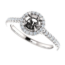 Load image into Gallery viewer, 14K White 5.2 mm Round 1/3 CTW Diamond Semi-Set Engagement Ring* Quote does not include cost of center stone. *Prices are based on a standard melee diamond quality SI2-SI3, G-H. Exact pricing may be subject to change based on size, please contact an