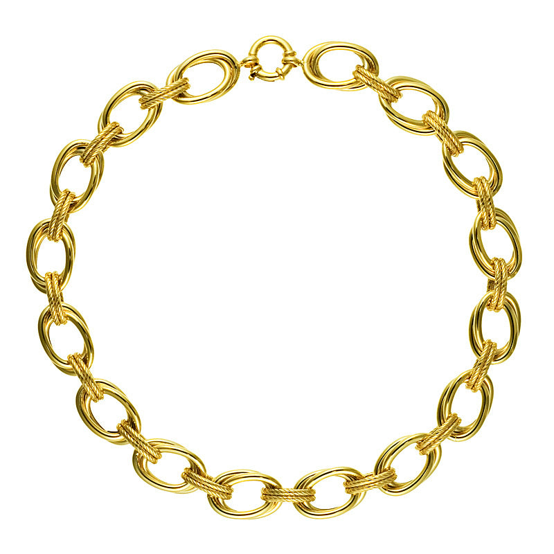 14KT Yellow Double Links
