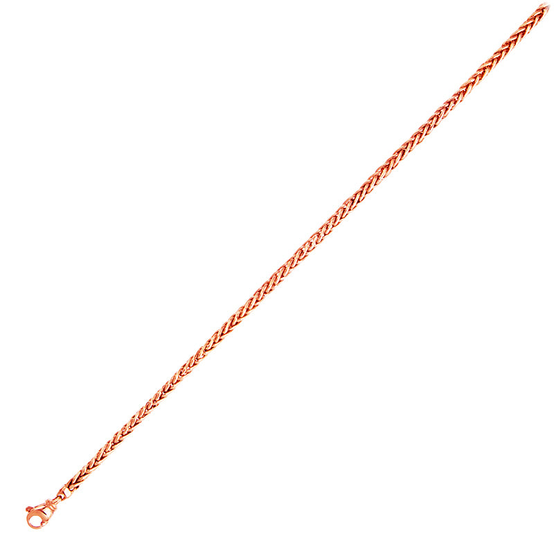 14KT Pink   Solid Wheat 3.5mm