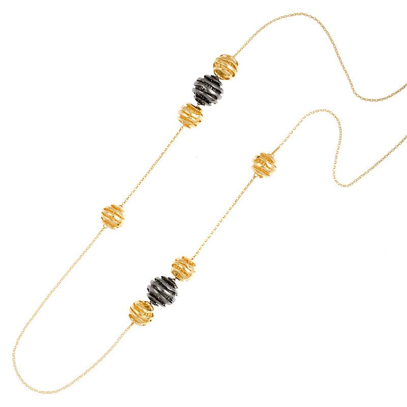 14KT Yellow Necklace With Balls