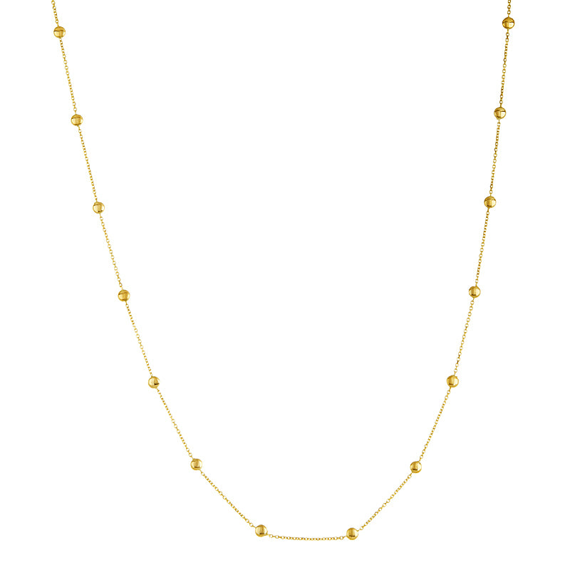 14KT Necklace With Small Rounds