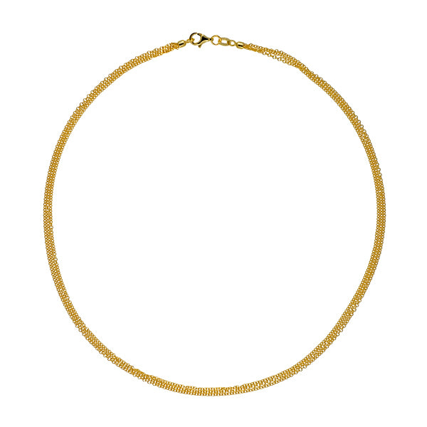 14KT Yellow 3 Strands Cable