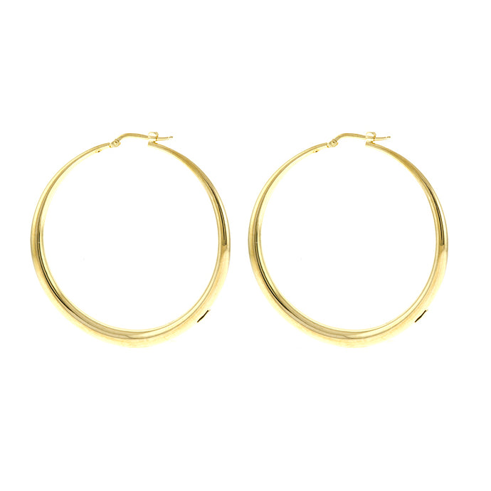 14KT Yellow Large Hoop