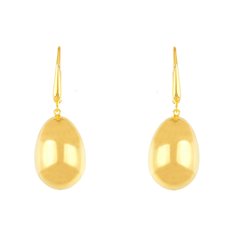 14KT Yellow Earrings One Drop