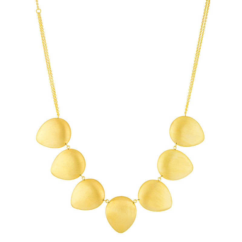 14KT Yellow Necklace Satin