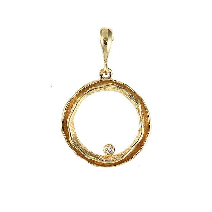 14KT Yellow Pendant Circle