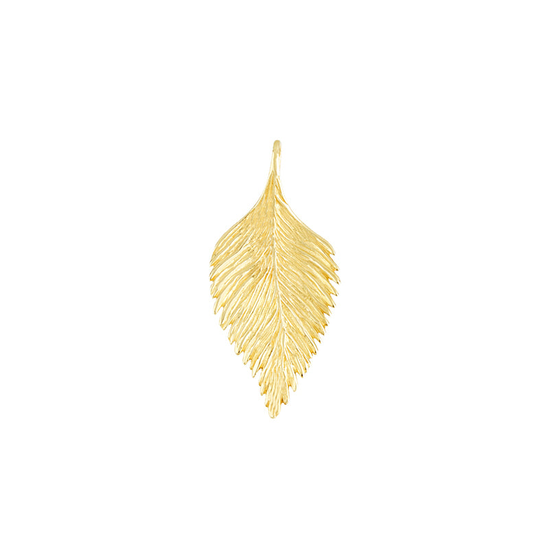 14KT Yellow Leaf Pendants