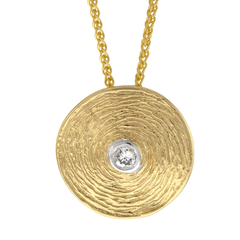 14KT Yellow Pendant Texture Plate