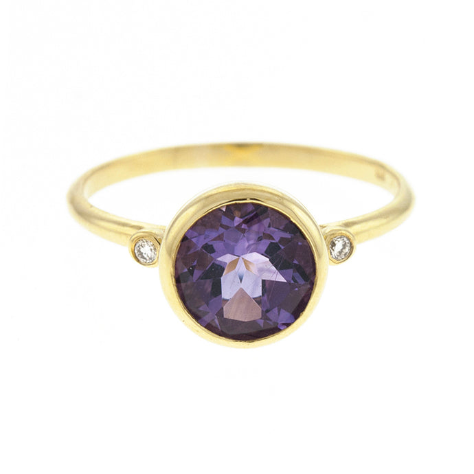 14KT Yellow Ring Amethyst
