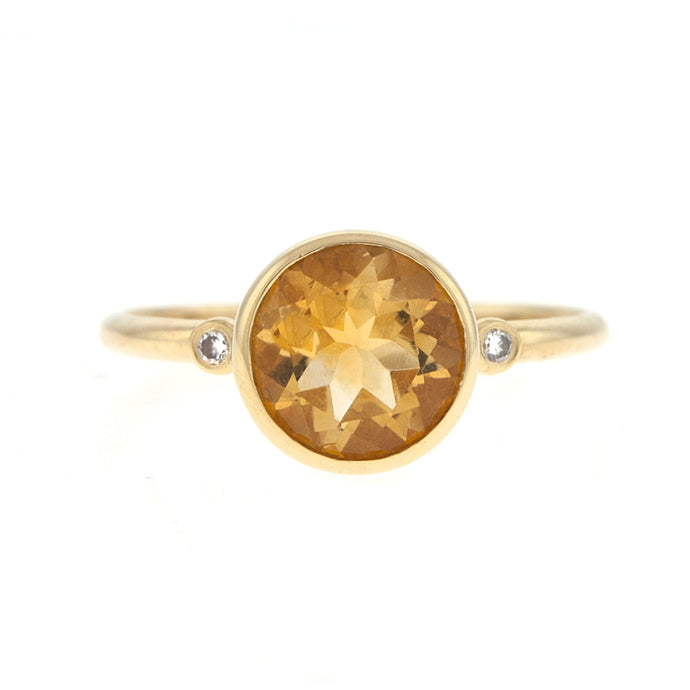 14KT Yellow Ring Citrine