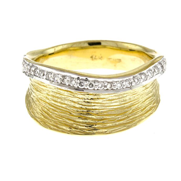 14KT Yellow Texture Ring