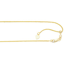Load image into Gallery viewer, 10K Gold 1.0mm Adjustable Wheat Chain