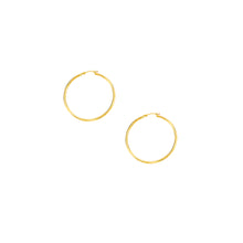 Load image into Gallery viewer, 10K Gold 1.5x30mm Hoop Earring