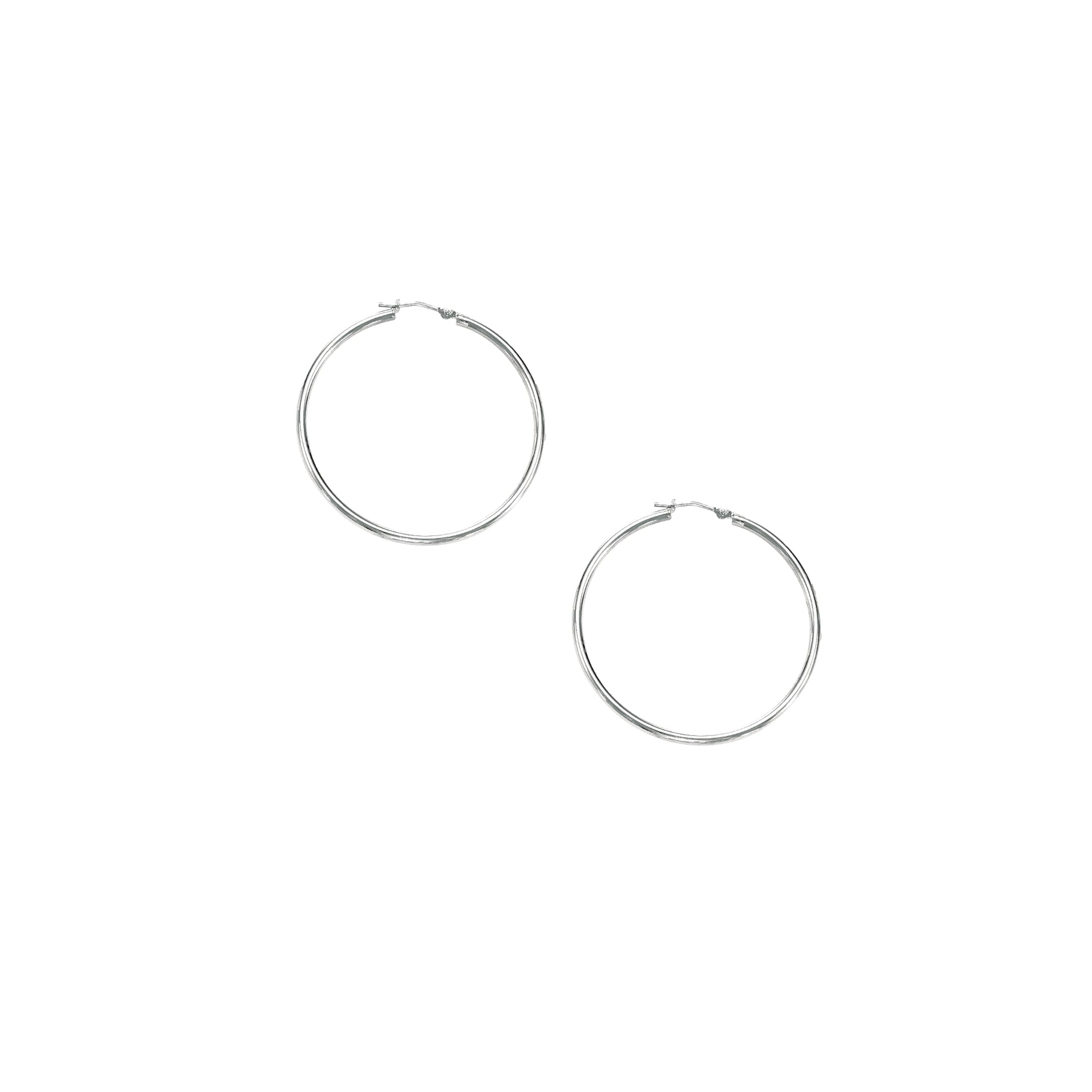 10K Gold 1.5x30mm Hoop Earring