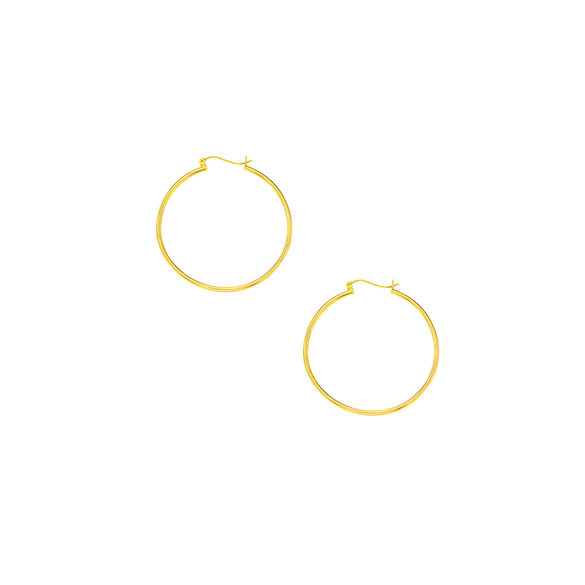 10K Gold 1.5x40mm Hoop Earring
