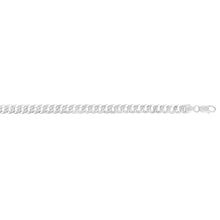 Load image into Gallery viewer, Silver 7.3mm White Pave Curb Chain