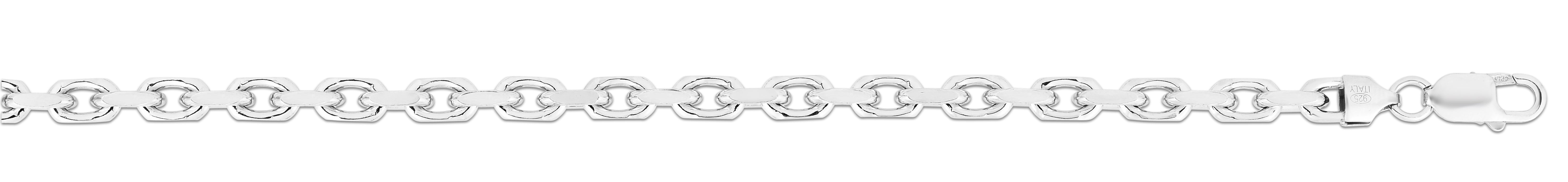 Silver 6mm Diamond Cut Anchor Chain