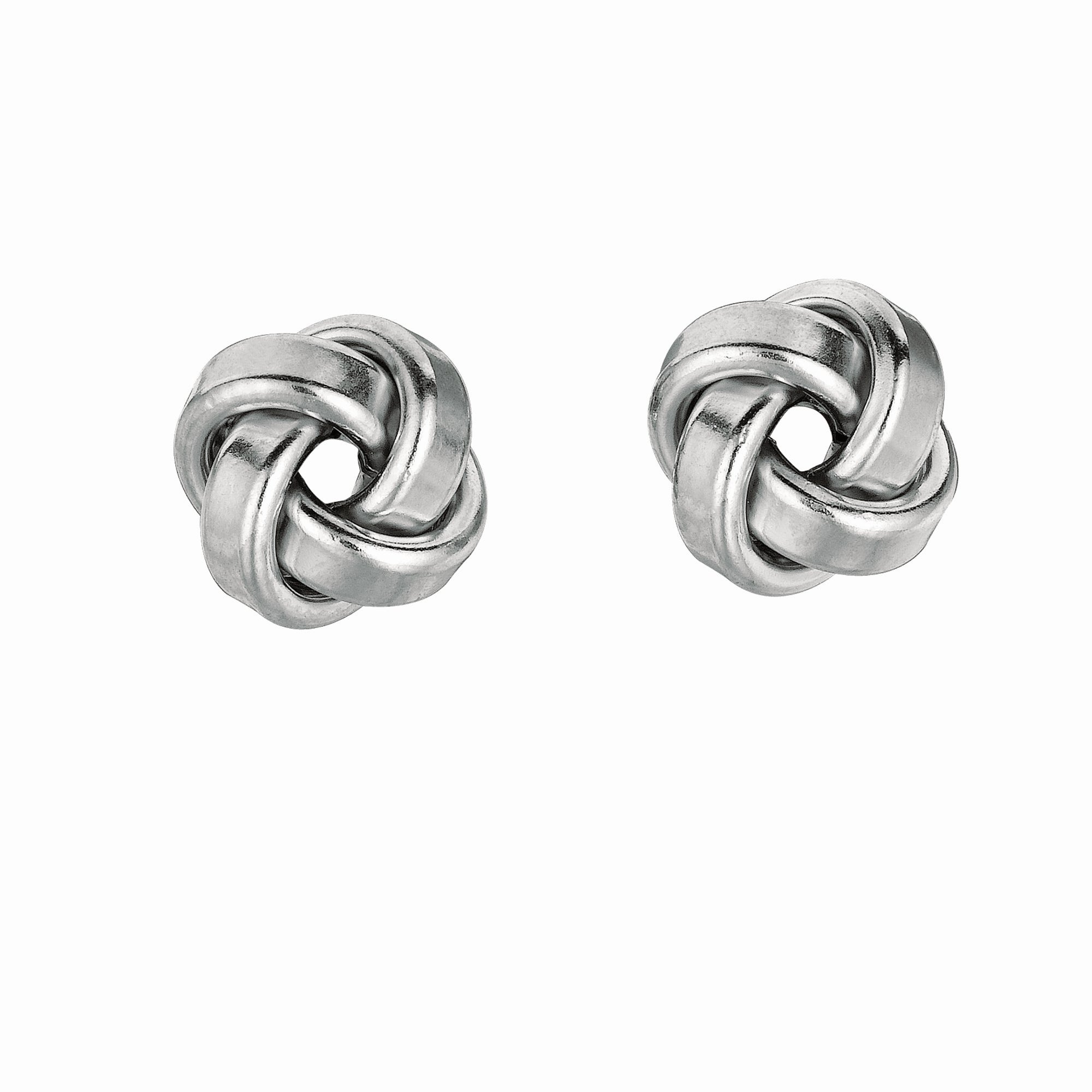 Silver Small Polished Love Knot Earring