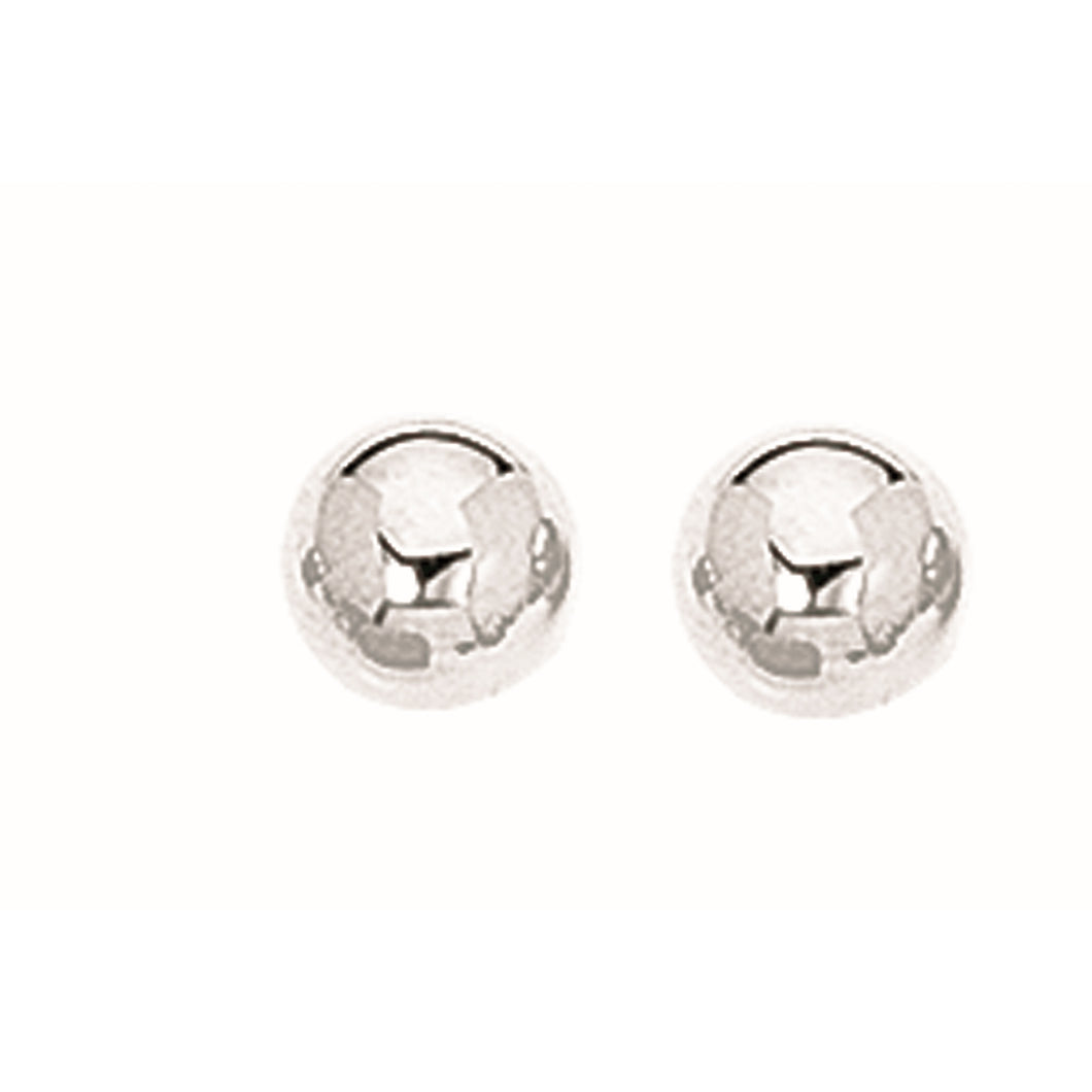 Silver 7MM Ball Earring