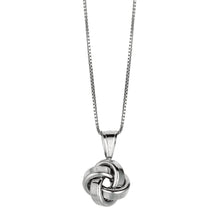 Load image into Gallery viewer, Silver Polished Love Knot Necklace