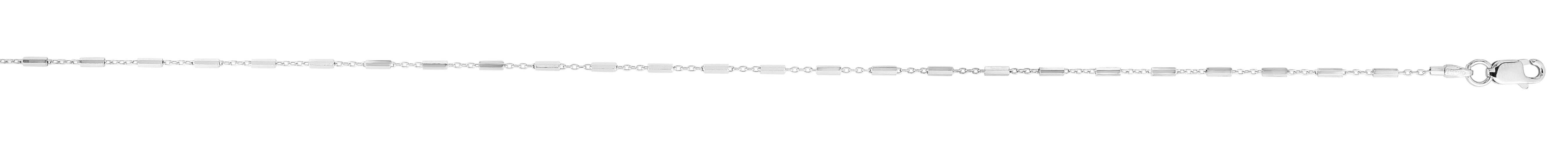Silver 1.37mm Saturn Chain Anklet