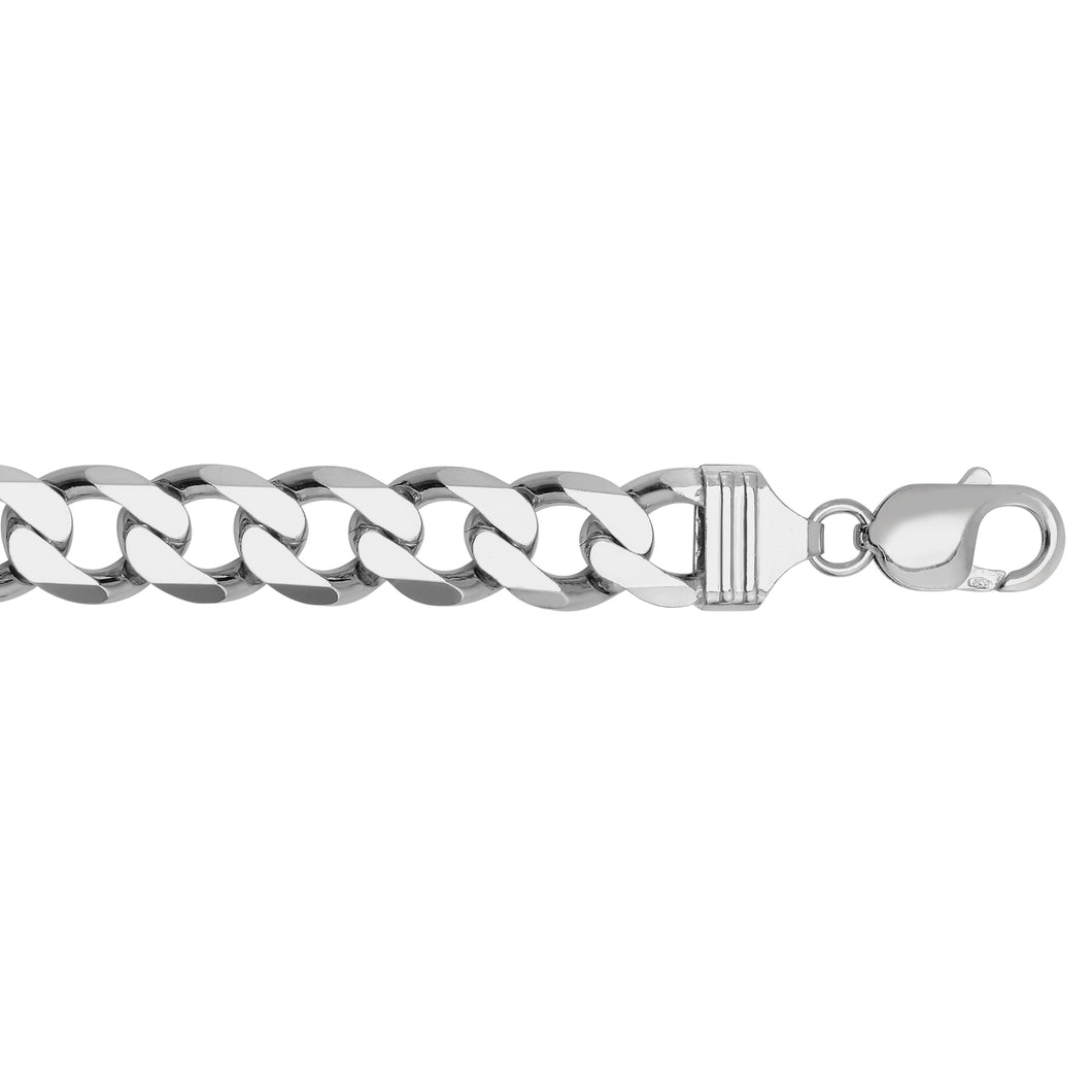 Silver 11.6mm Comfort Curb Chain