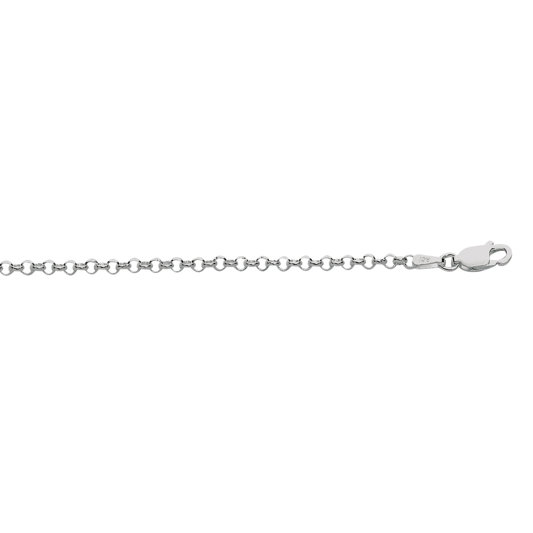 Silver 2.4mm Rolo Chain