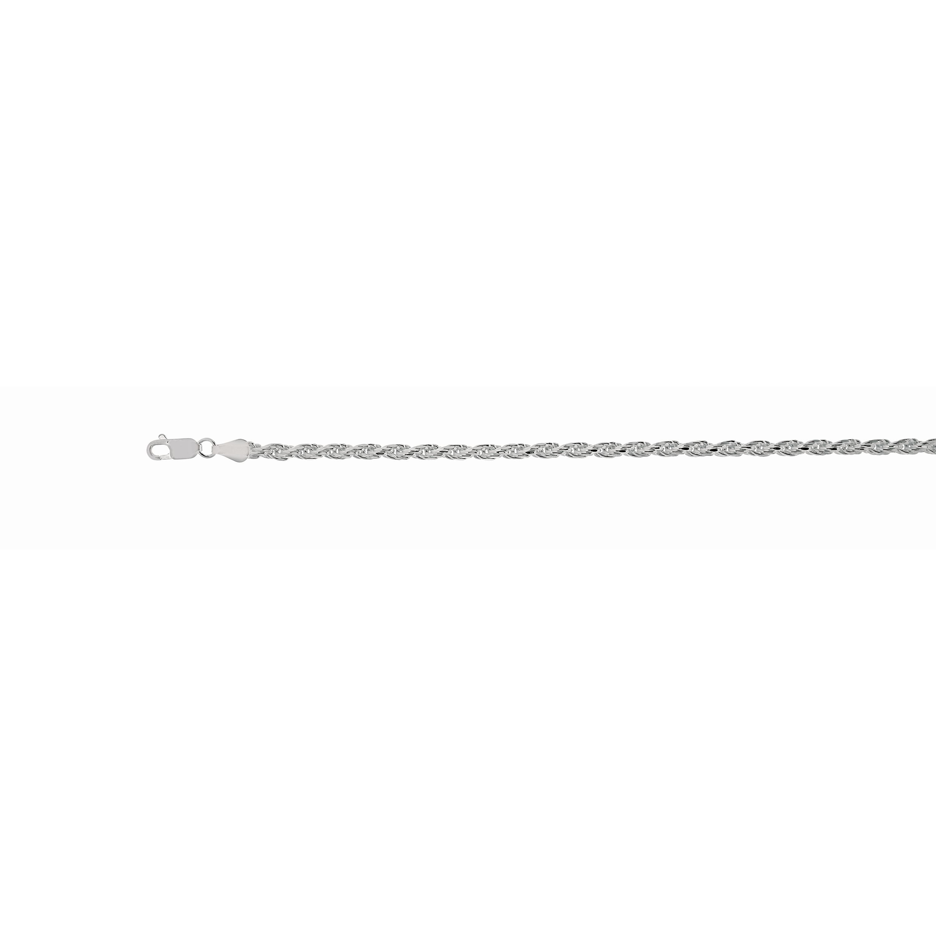 Silver 5mm Rope Chain