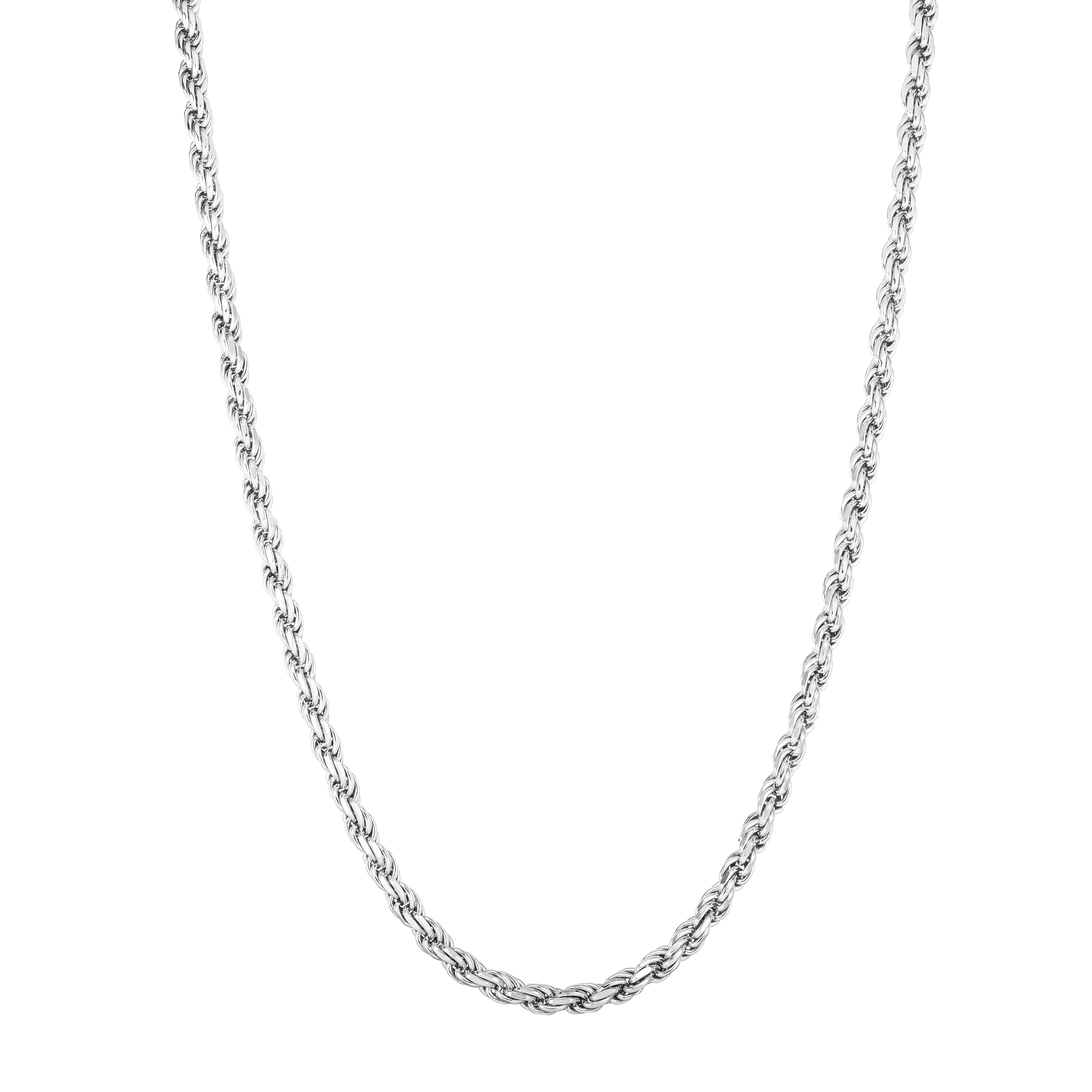 Silver 6mm Rope Chain