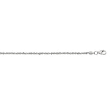 Load image into Gallery viewer, Silver 1.5mm Sparkle Chain
