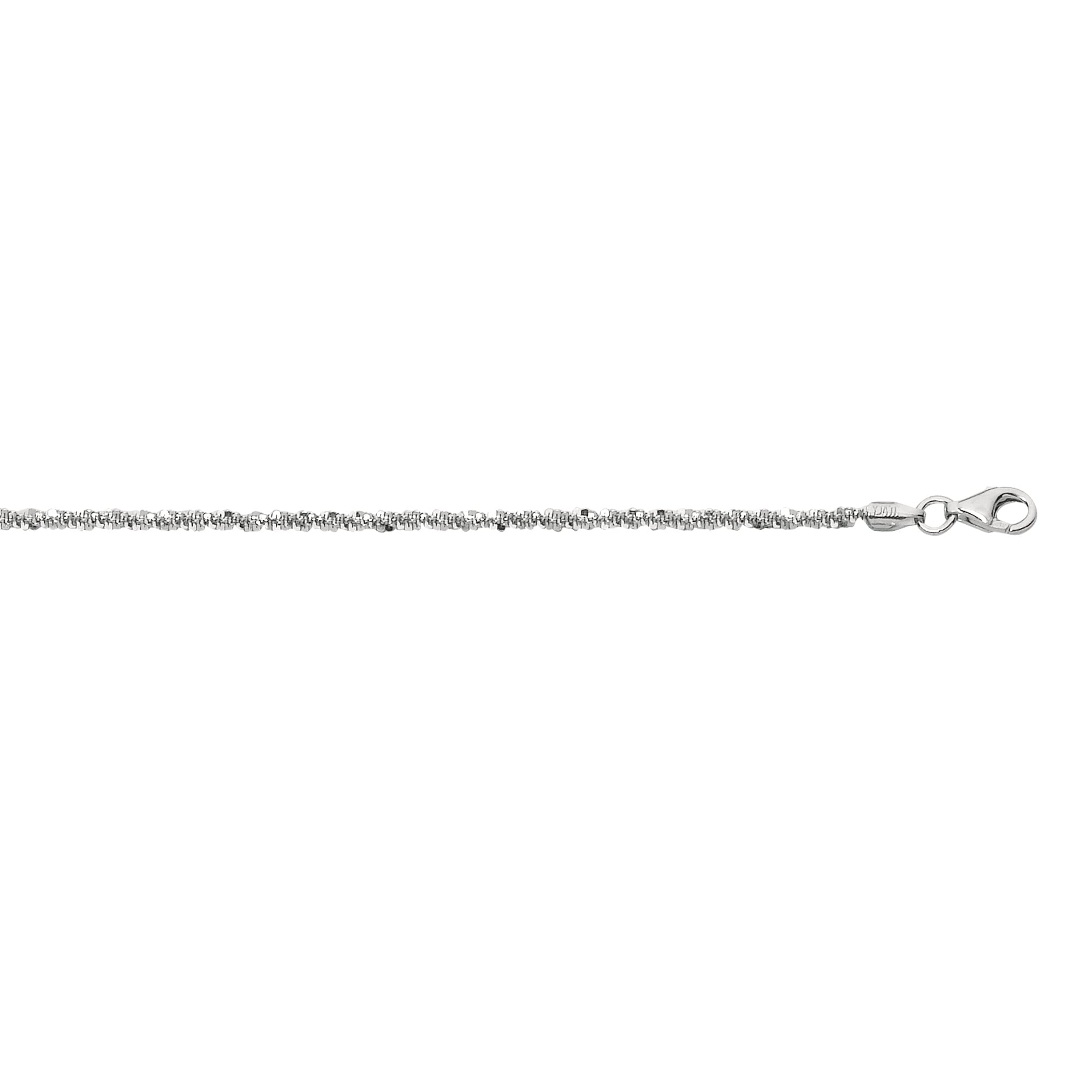 Silver 1.5mm Sparkle Chain