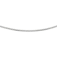 Load image into Gallery viewer, Silver 3.10mm Semi-Solid Wheat Chain