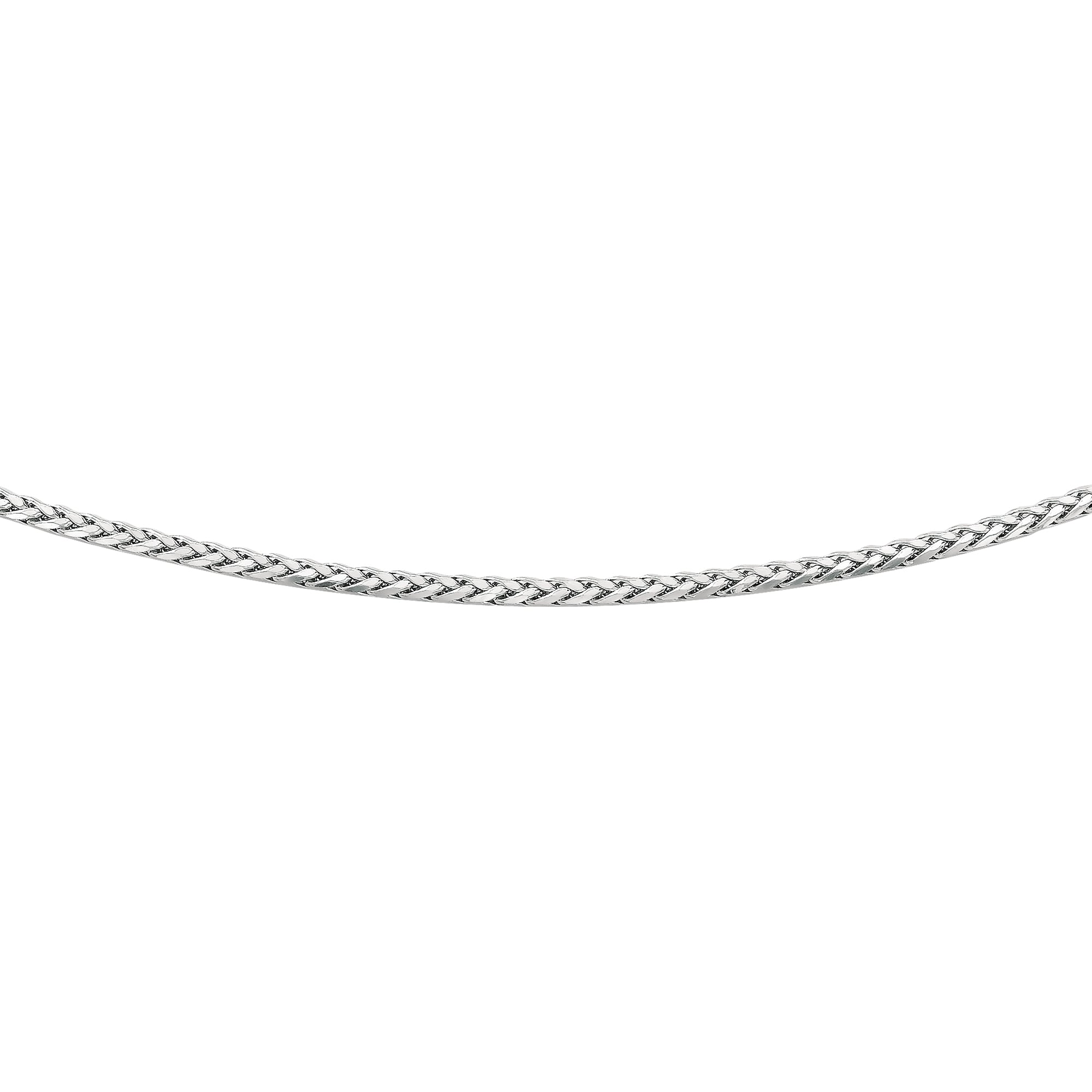 Silver 3.10mm Semi-Solid Wheat Chain