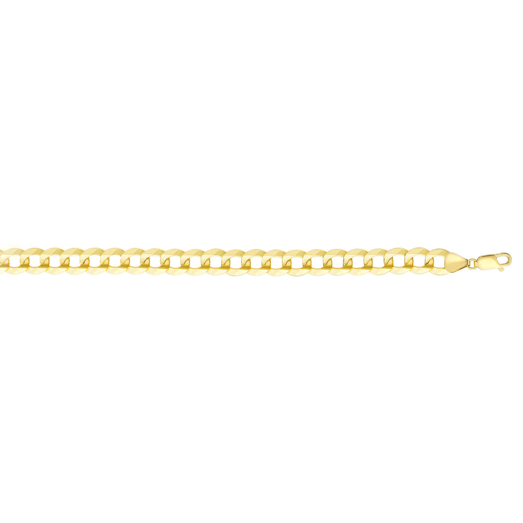 14K Gold 11.23mm Comfort Curb Chain