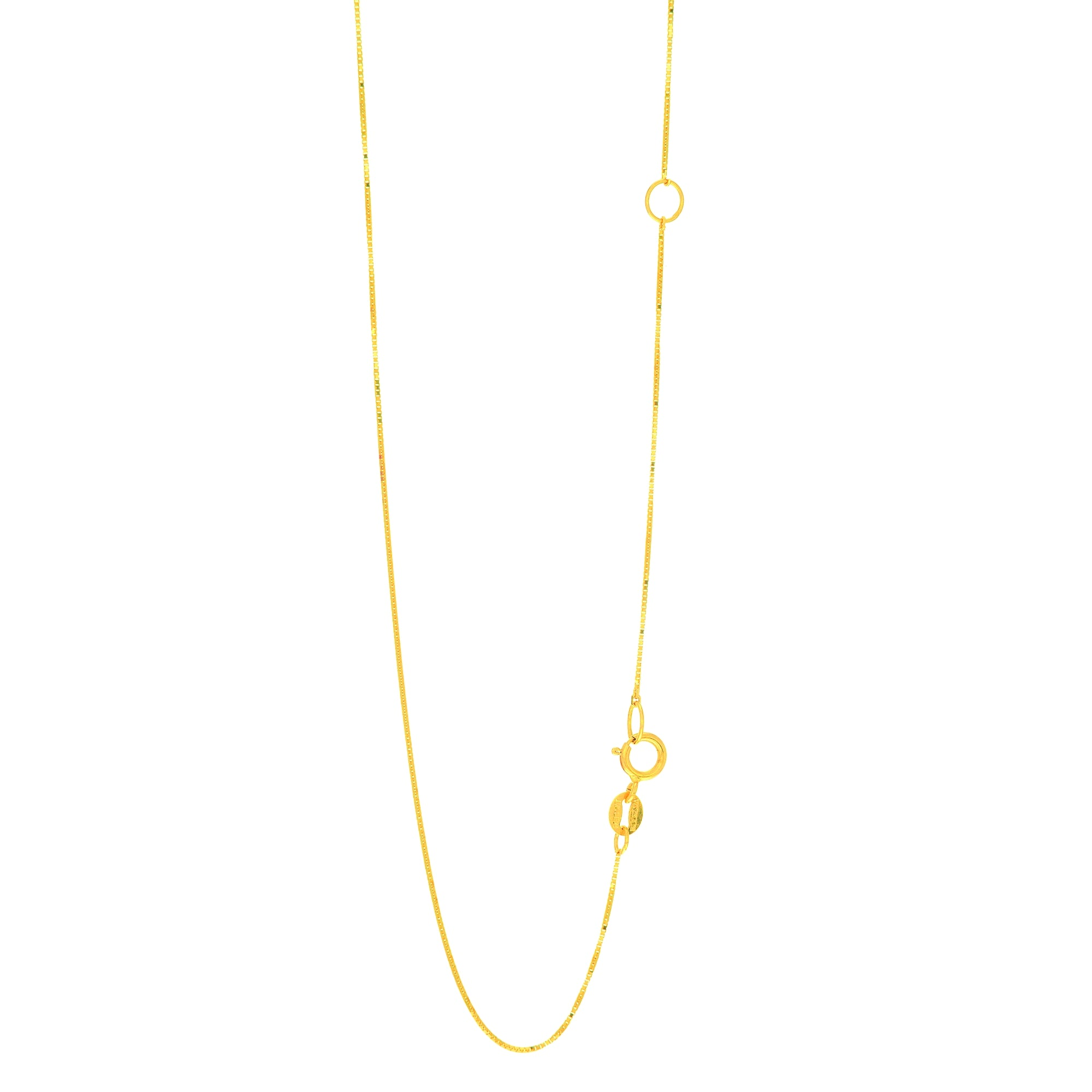 14K Gold .6mm Extendable Chain