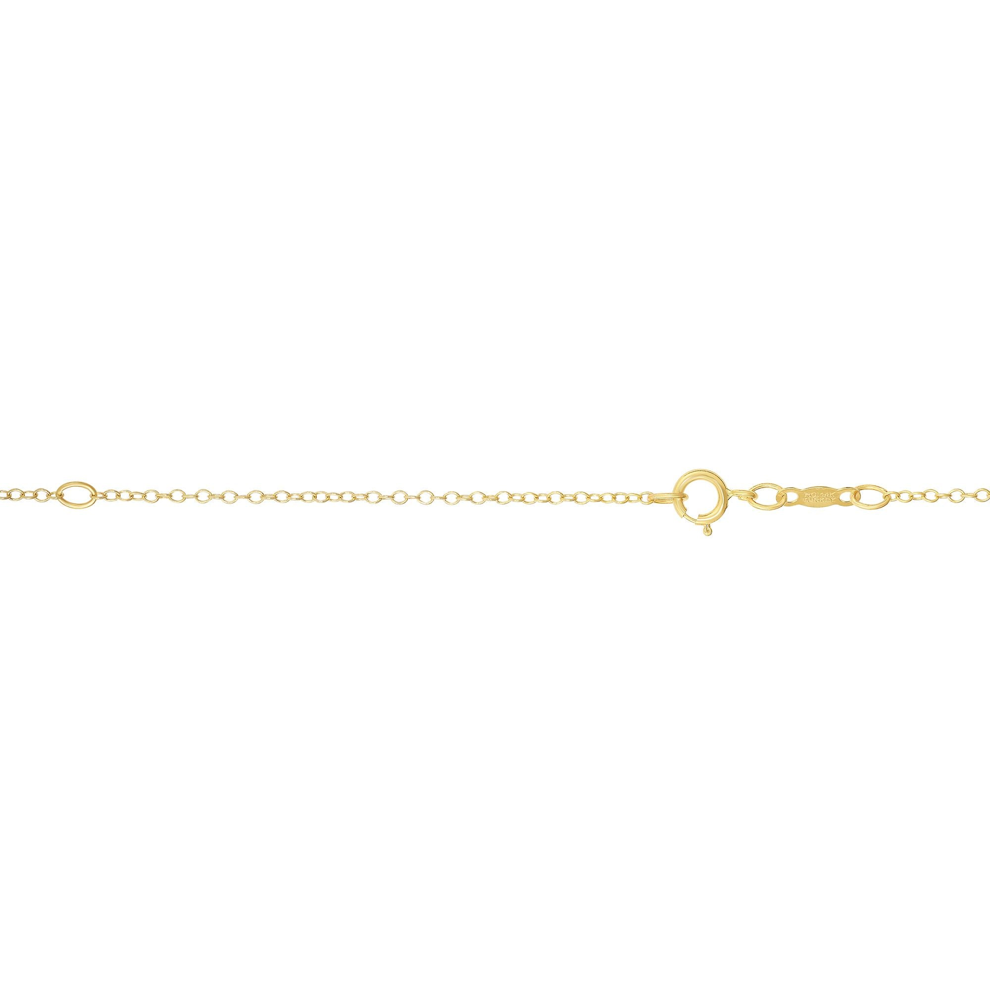 14K Gold 1.2mm Extendable Chain