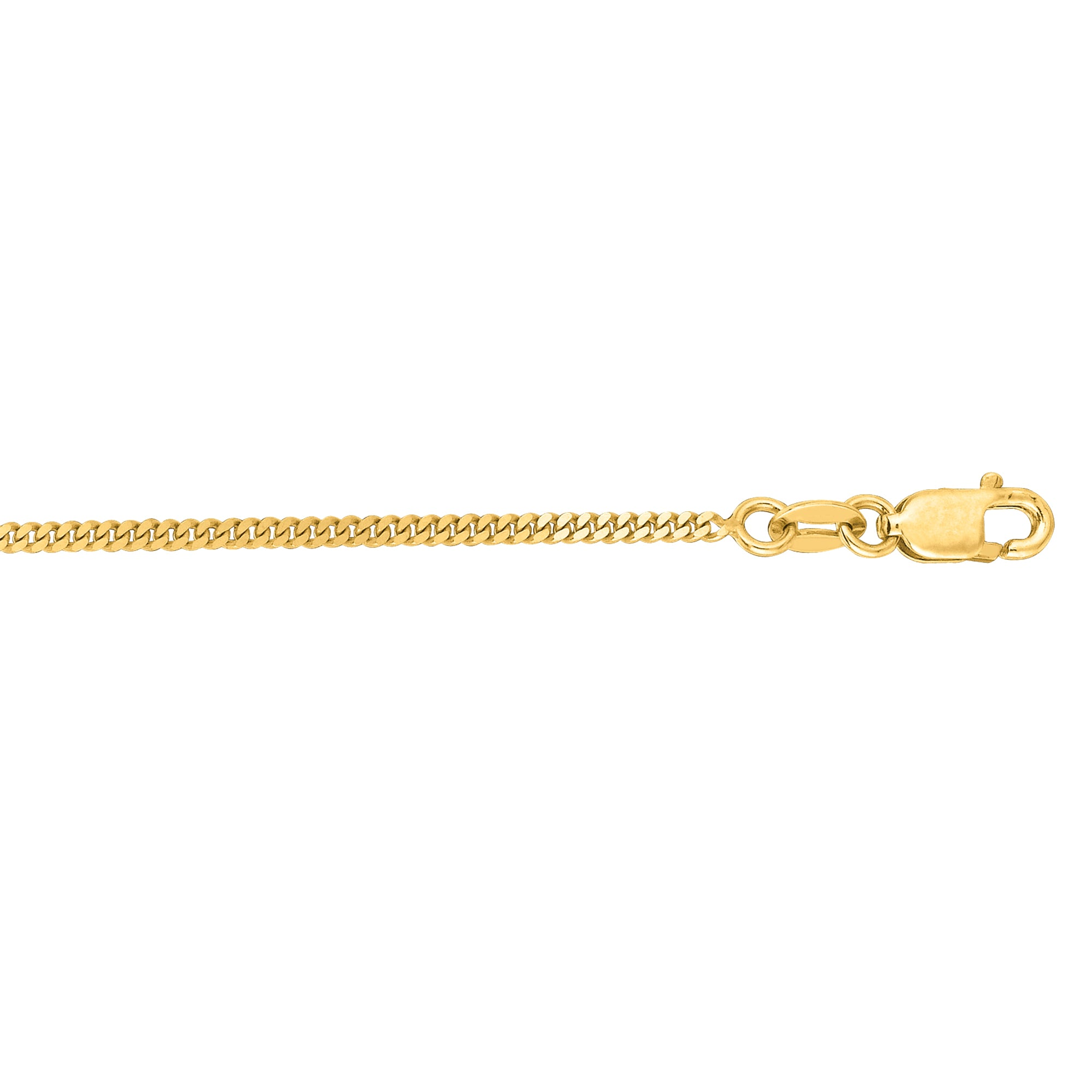 14K Gold 1.5mm Gourmette Chain