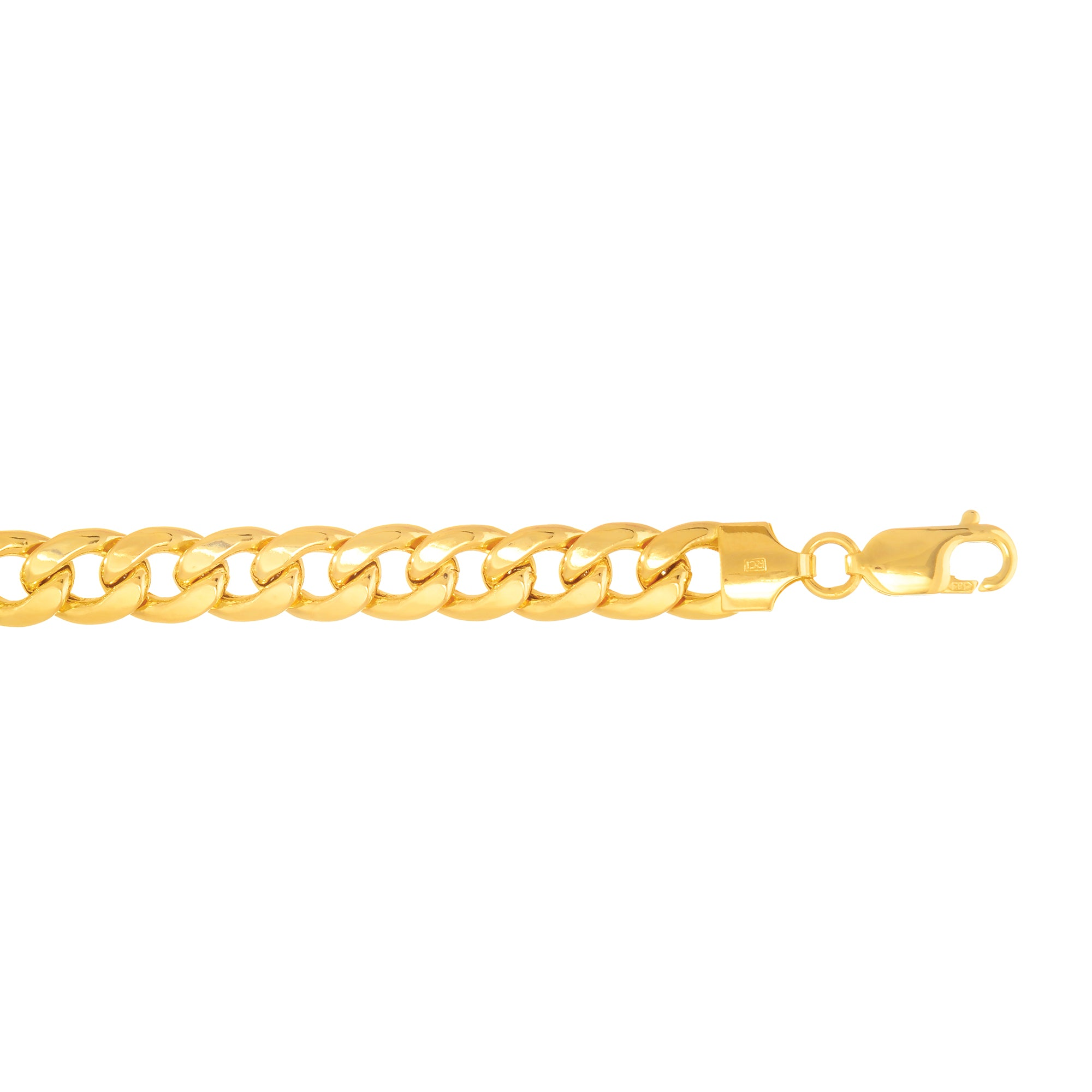 14K Gold 7.8mm Semi-Solid Miami Cuban