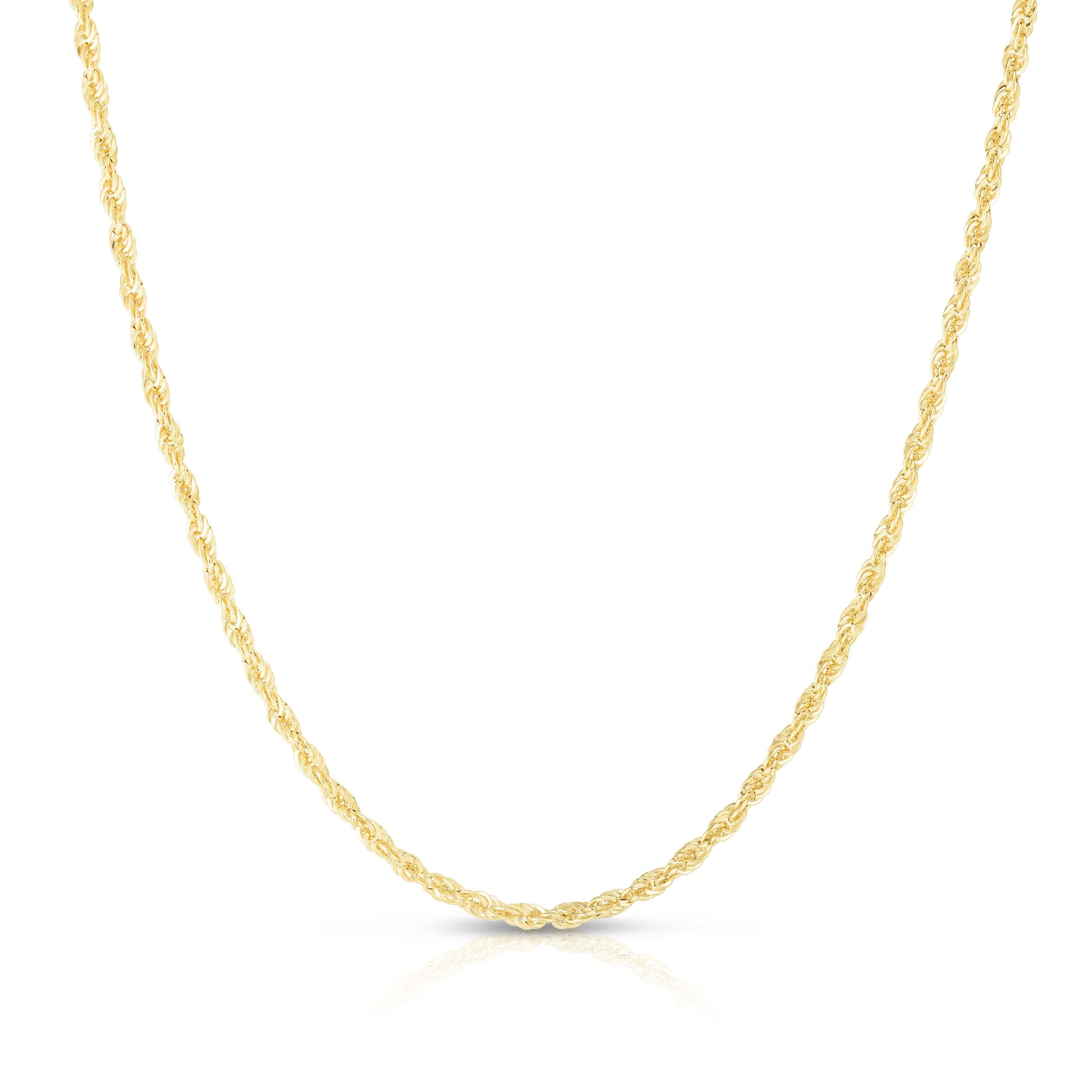 14K Gold 2.5mm Lite Rope Chain