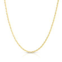Load image into Gallery viewer, 14K Gold 2.5mm Lite Rope Chain