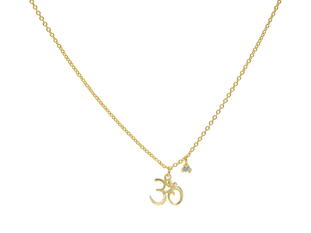 Mini Vermeil OHM Yoga Necklace