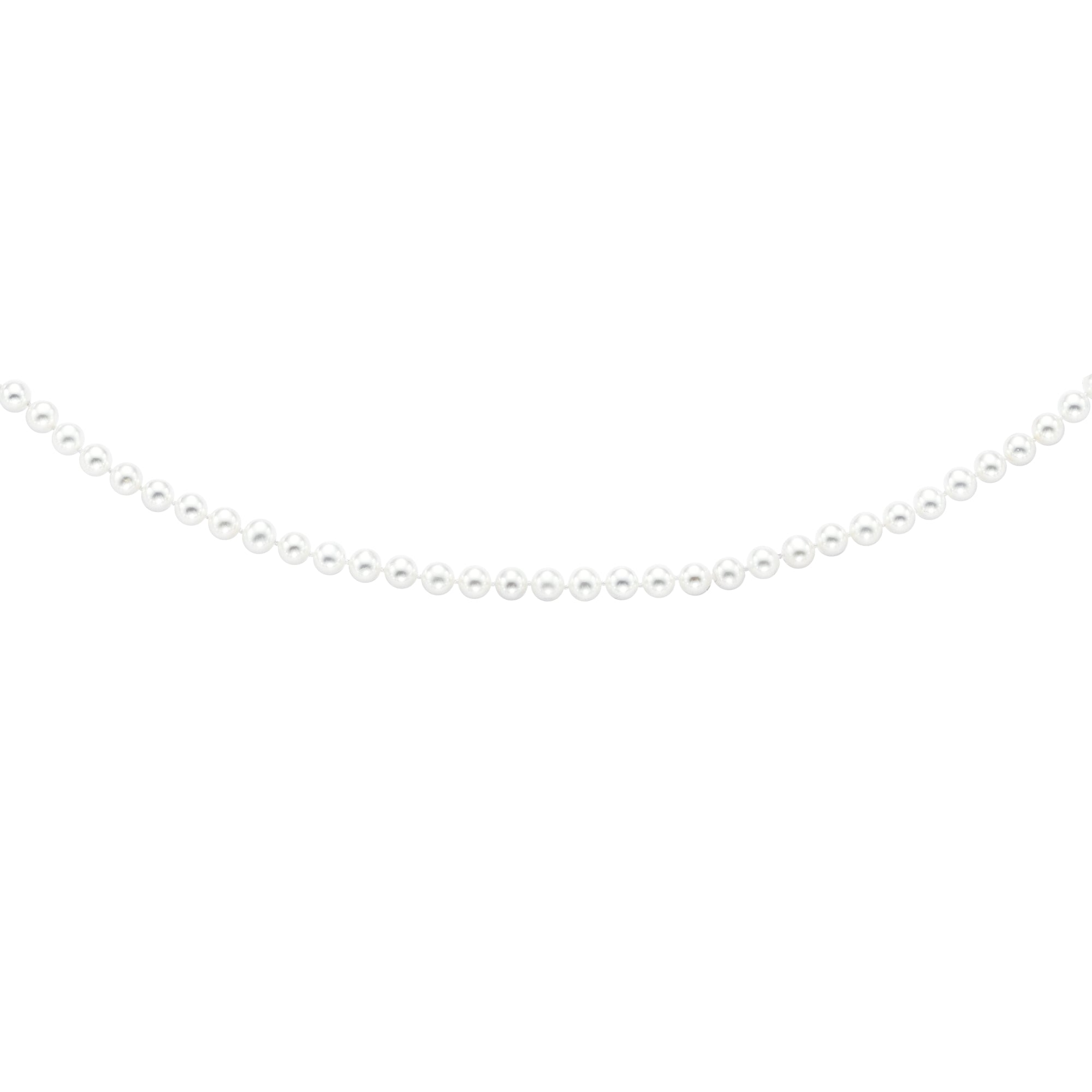 14K Gold 6.0-6.5MM Pearl Strand Necklace
