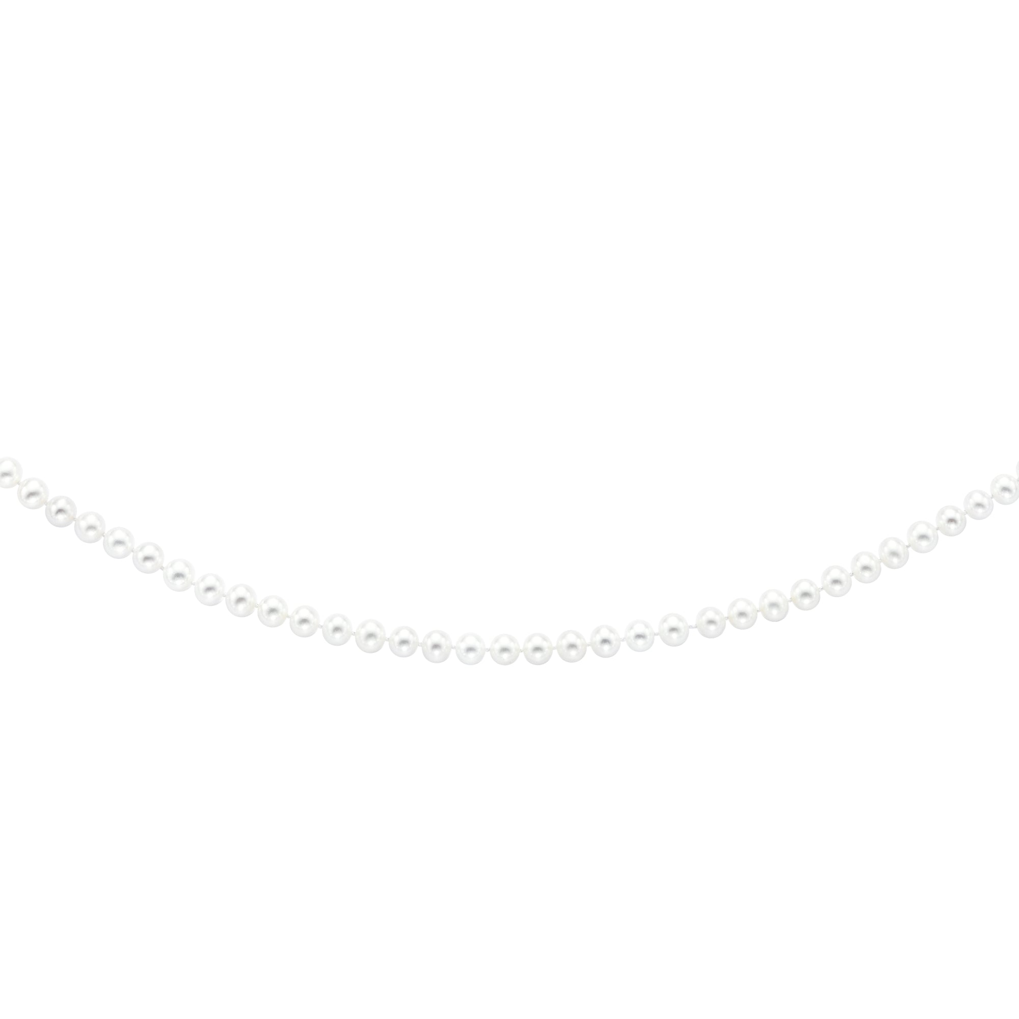14K Gold 6.5-7.0MM Pearl Strand Necklace