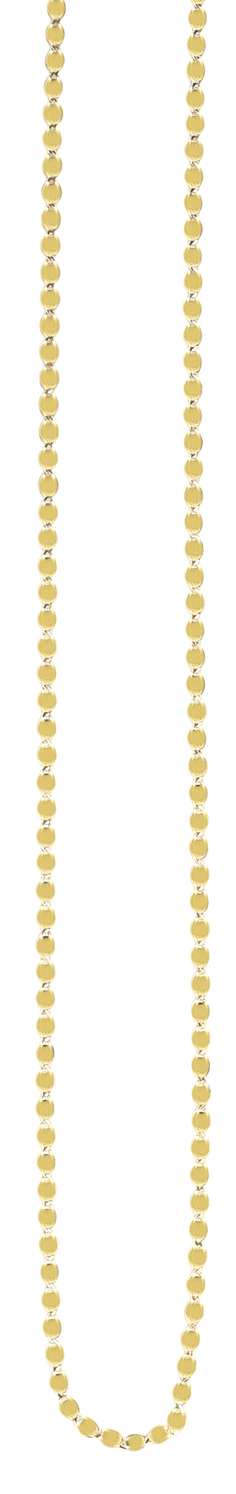14K Gold 2.2mm Oval Mirror Link Chain
